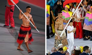 Tongan flag bearer Pita Taufatofua is one of the rare athletes to take part in both the summer and winter Olympic Games