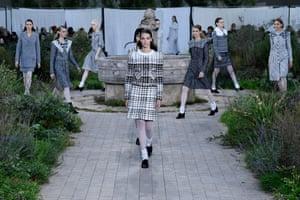 Paris, France Models walk the runway at the Chanel show during Paris Fashion Week