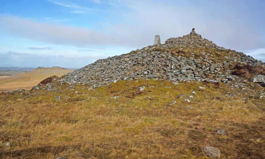 Summit cairn on Brown Willy, Bodmin Moor.