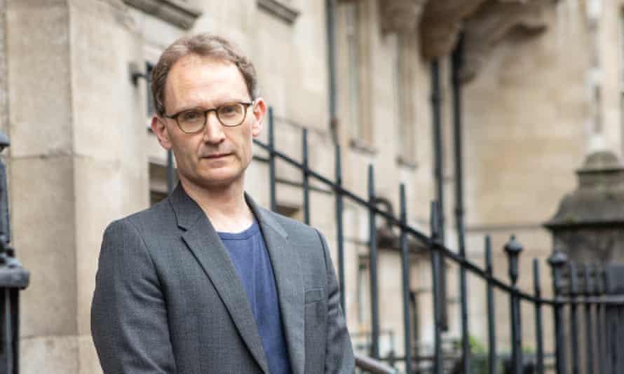 Prof Neil Ferguson outside St Mary's Hospital in London.