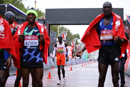 Eliud Kipchoge suffered a rare off day and could only finish fifth.