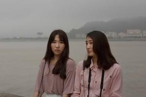 South Korean friends Eunju Cheon and Jiun Woo take the ferry from Hong Kong to Macau.