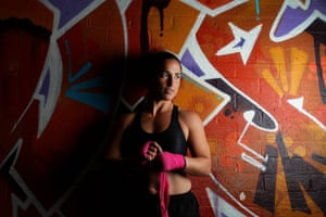 Australian boxing champion Bianca Elmir poses at Stockade Training Centre in Canberra