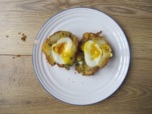 Gizzi Erskine's vegetarian Scotch Eggs.