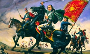 Casimir Pulaski, Continental Army General in the American Revolutionary War. Painting in Savannah Visitor Centre, Georgia, USA