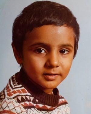 Babar Ahmad, aged seven