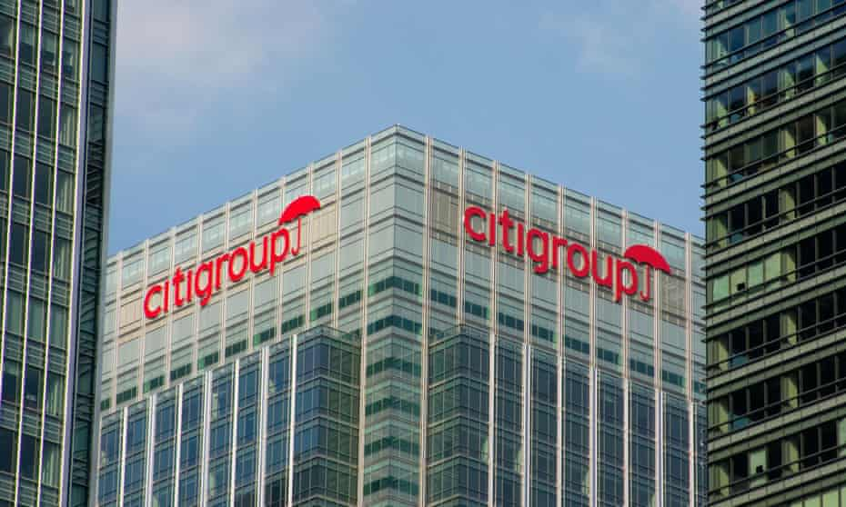 Citigroup in Canary Wharf, London
