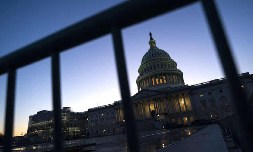 The U.S. Captiol on the fist day of Trump's Impeachment Trial<br>The sun sets over the U.S. Capitol on the first day of President Donald Trump's impeachment trial in the Senate, on Tuesday, January 21, 2020 in Washington, D.C. President Trump is on trial for abuse of power and obstruction of Congress. Photo by Kevin Dietsch/UPI- PHOTOGRAPH BY UPI / Barcroft Media