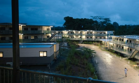 The a new 'refugee transit centre' built by Australia on the outskirts of Lorengau.