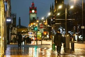 An already restricted Edinburgh city centre.