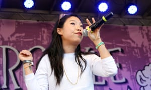 That's a rap: Awkwafina at the Festival Supreme, The Circus of Death at the Shrine Expo Hall in Los Angeles, 2014.