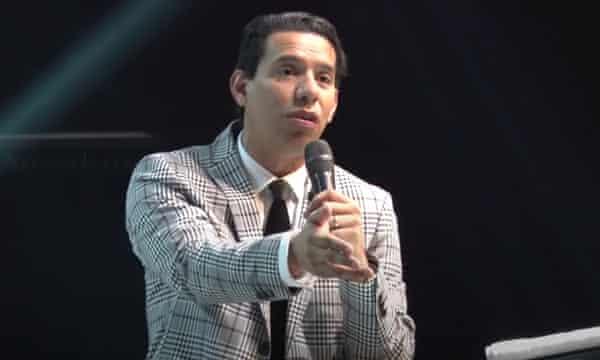 Anderson do Carmo de Souza preaching in Rio in 2018, a year before he was shot dead.