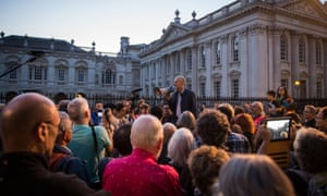 Jeremy Corbyn speaks to over 1,200 supporters outside Great St Mary's church in Cambridge last week