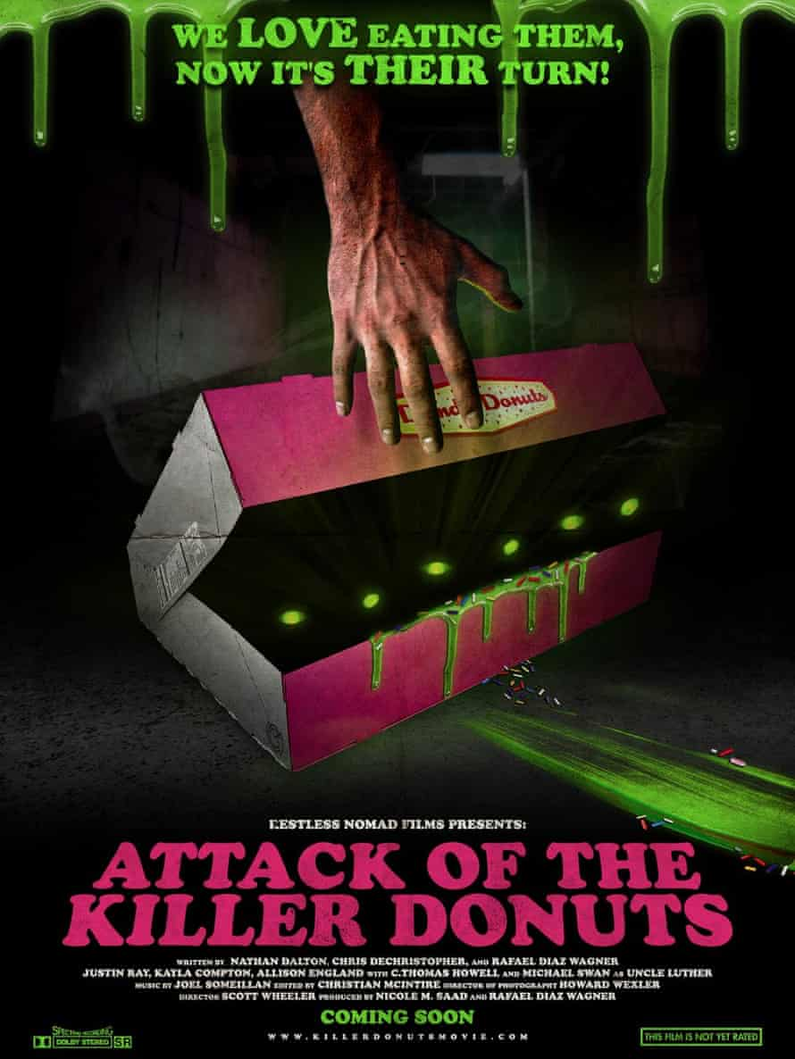 attack of the killer donuts film poster
