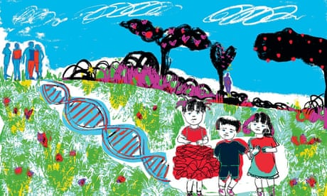 Half sisters (from same sperm donor) illustration