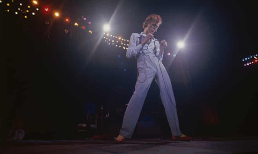David Bowie … In concert in 1974.