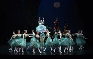 Australian Ballet dancers on stage