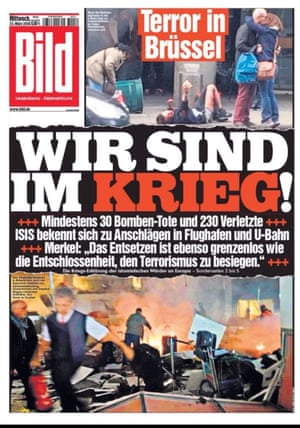 The front page of Bild