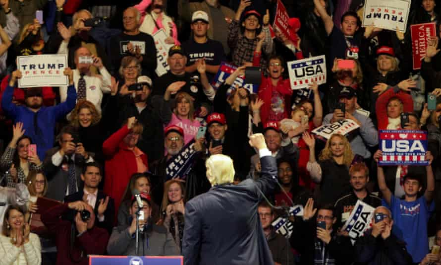 The event came at the start of an unprecedented victory tour where Trump will hold campaign-style rallies across the country.