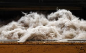 Rabbit fur to be moulded into a hat sits on a table at Borsalino's hat factory, in Spinetta Marengo near Alessandria, Piedmont.
