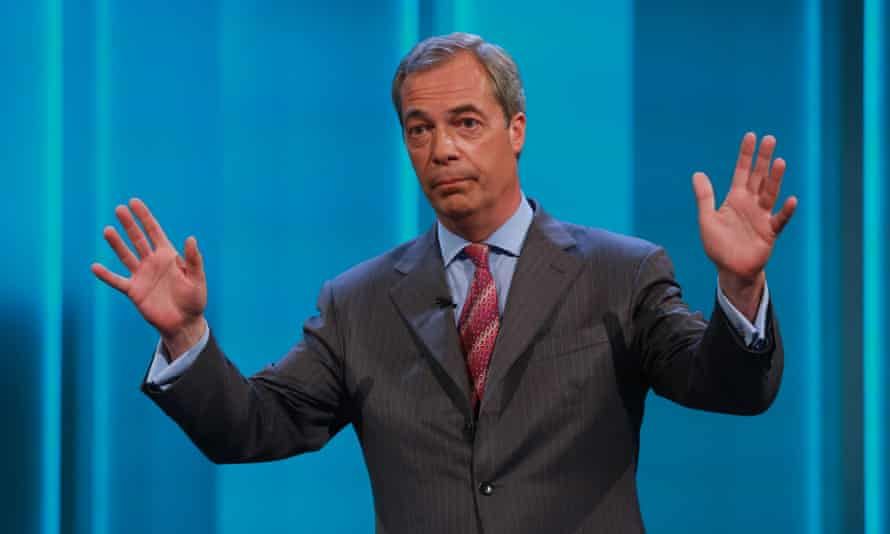 Nigel Farage answers questions from the audience during The ITV Referendum Debate