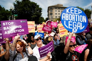 An abortion protest in Washington DC, US