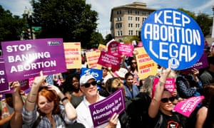 A May rally in Washington in favour of abortion rights for women. The law would have called for prison sentences for abortion providers.