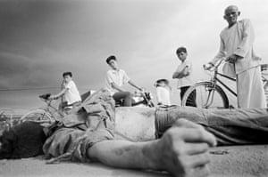 A Viet Cong soldier killed during the Tet Offensive, Cholon, Saigon, Vietnam 1968