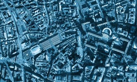Satellite image of city