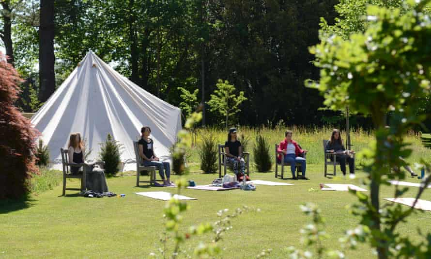 A meditation retreat in Sussex: wellness has moved into the great outdoors