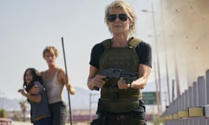 Terminator fans are out there ready to turn this movie into a major smash ... from left, Natalia Reyes, Mackenzie Davis and Linda Hamilton in Terminator: Dark Fate.