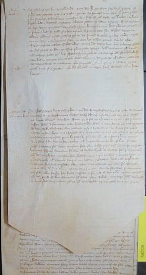 The document examined by Sebastian Sobecki.