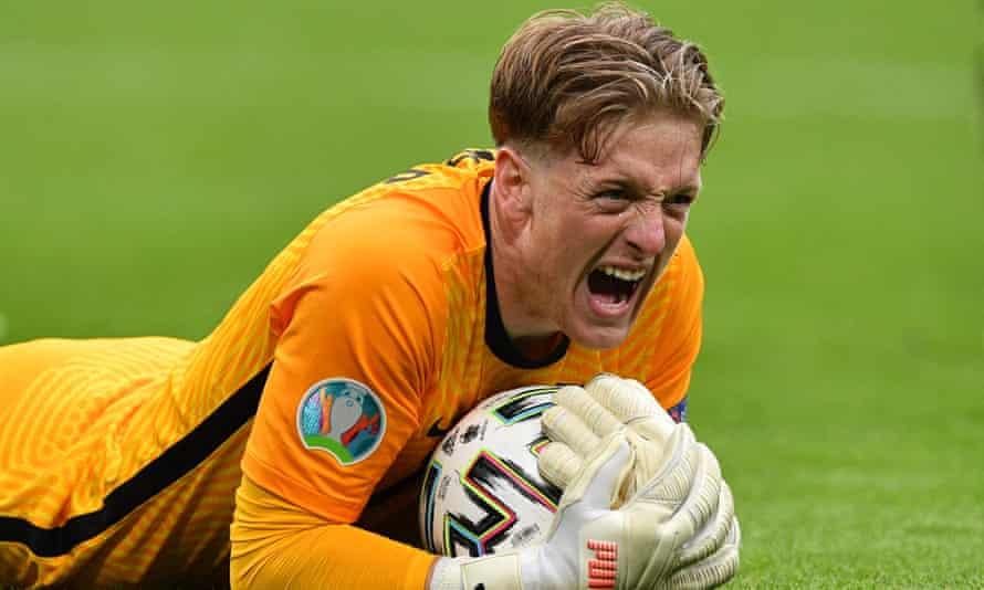 Jordan Pickford, England's ultimate tournament animal, has come to play    England   The Guardian