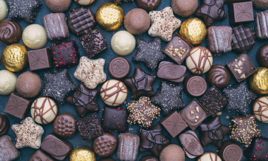 Selection of Thorntons chocolates