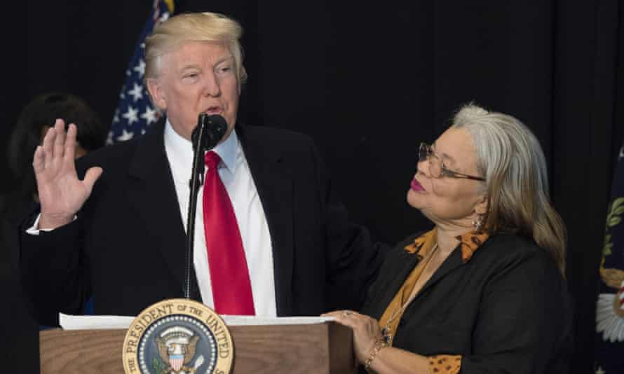 Alveda King with Trump in 2017.