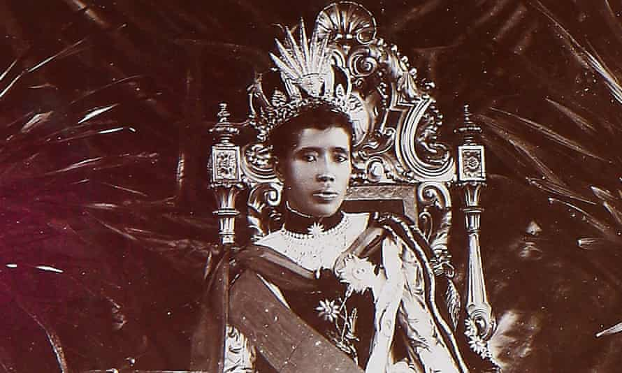 A photograph of Ranavalona III found in a box cleared out of a Guildford attic
