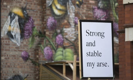 Strong and stable my arse poster.