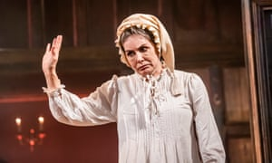 Sally Dexter as Scrooge in Christmas Carol – A Fairy Tale at Wilton's Music Hall.