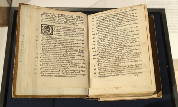 An 1817 edition of Martin Luther's 95 theses