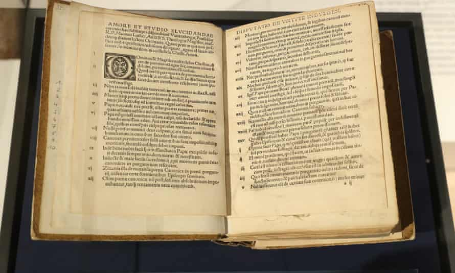 An edition of Martin Luther's The 95 Theses printed in Basel in 1517