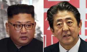 Kim Jong-un and Shinzo Abe, who have had a difficult relationship