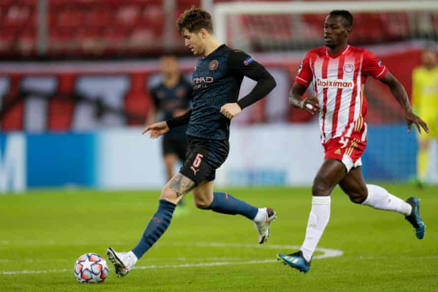 John Stones impressed for Manchester City during their Champions League win at Olympiakos