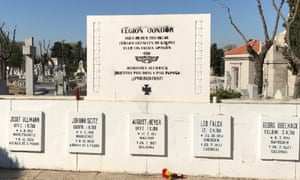 The now demolished monument to the Condor Legion in Madrid.