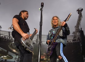 Robert Trujillo and Kirk Hammett.