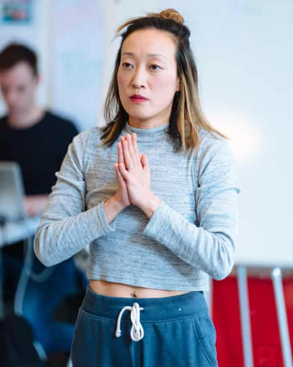Gabby Wong in Pah-La rehearsals.