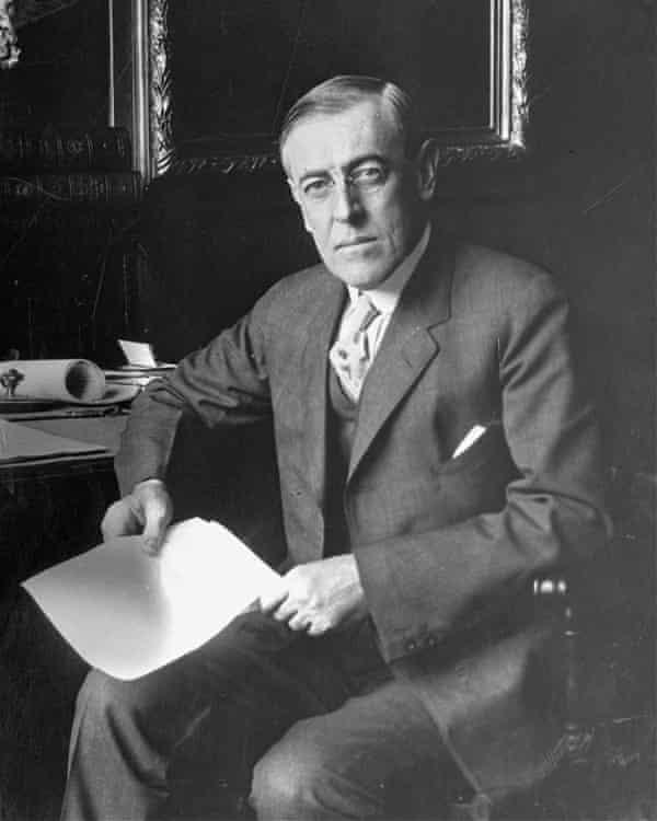 Woodrow Wilson, the 28th US president.