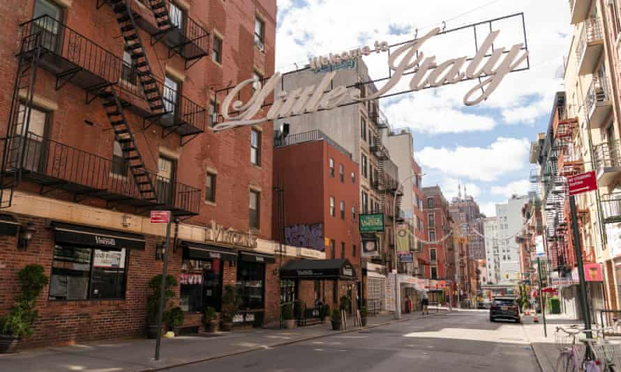 A quiet Little Italy in Manhattan. New Yorkers, along with Americans in many other states, have been ordered to stay at home.