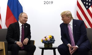 Donald Trump,Vladimir PutinFILE - In this June 28, 2019, file photo, President Donald Trump, right, meets with Russian President Vladimir Putin during a bilateral meeting on the sidelines of the G-20 summit in Osaka, Japan.