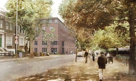 Artist's view of a new almshouse in south London.