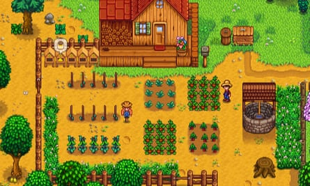 Farms and fishing festivals: A screenshot of Stardew Valley